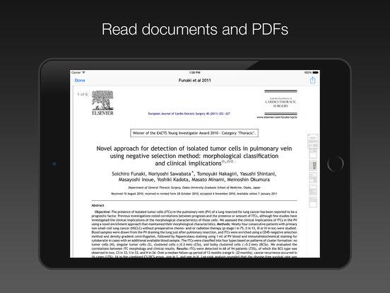 PubMed On Tap Lite iPad Screenshot 2