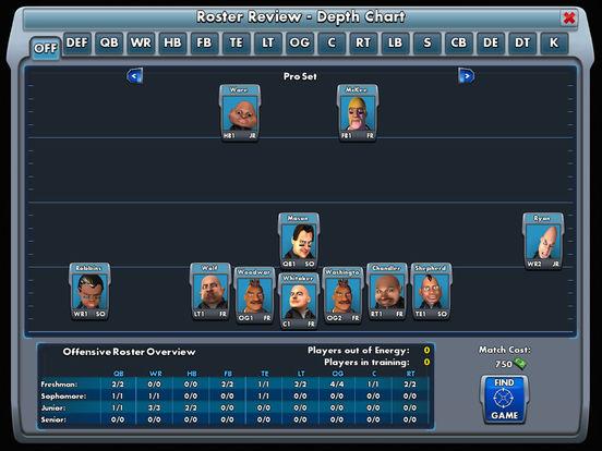 Bobblehead College Football Screenshot
