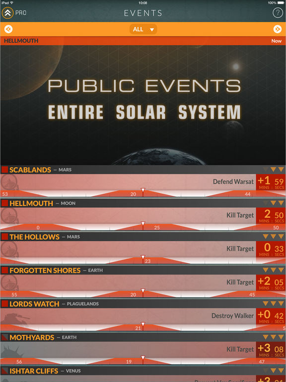 Events for Destiny Track Public Events Timers Screenshot