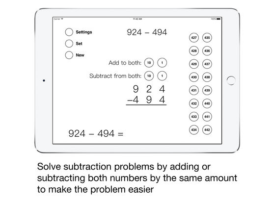 Same-Change Subtraction iPad Screenshot 1