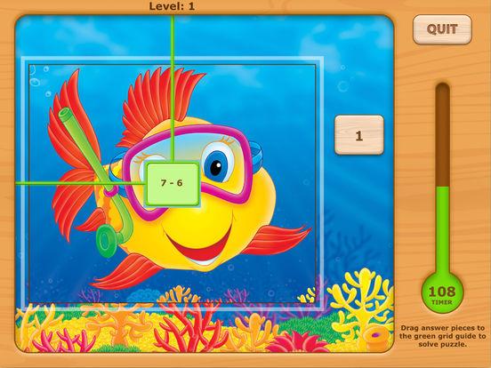 Adventures UnderSea Subtraction Game iPad Screenshot 1