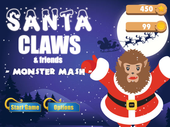Santa Claws - Monster Mash 1.0 - Free and Festive iOS Game Image