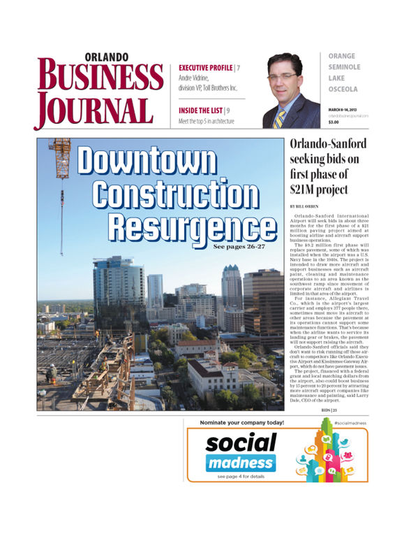 Orlando Business Journal screenshot