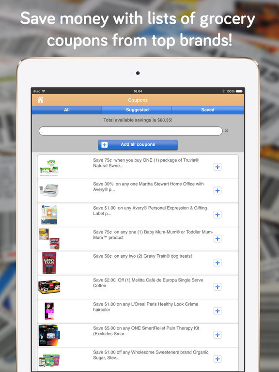 Shopper Lite - Grocery Shopping List and Recipes screenshot