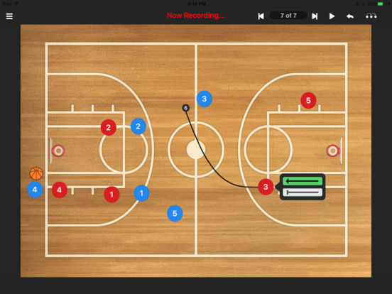 Basketball coach's clipboard iPad Screenshot 1