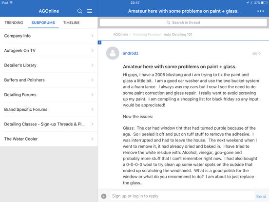 AutogeekOnline iPad Screenshot 3