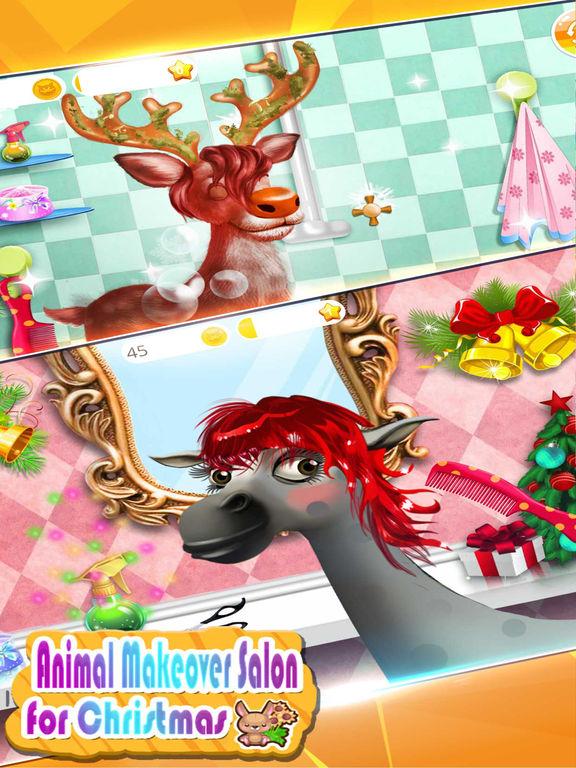 圣诞节动物造型沙龙-模拟时尚发型设计游戏 益智游戏宝宝免费大全