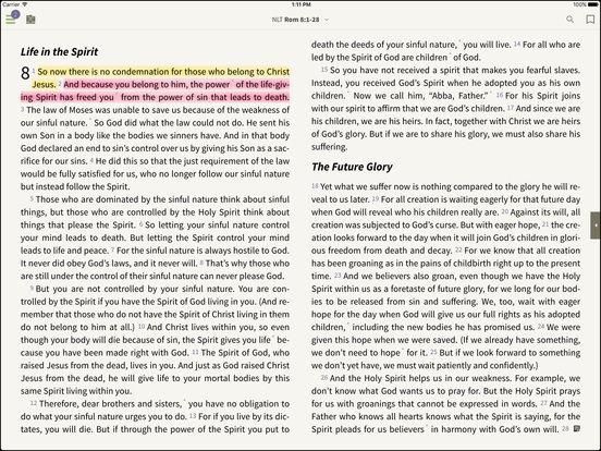NLT Bible for BibleReader iPad Screenshot 1