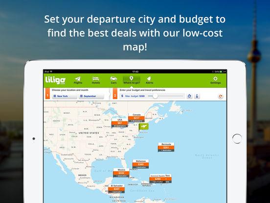 Comparateur de vols pas chers by liligo.com iPad Screenshot 4