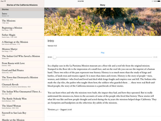 Stories of the California Missions iPad Screenshot 1