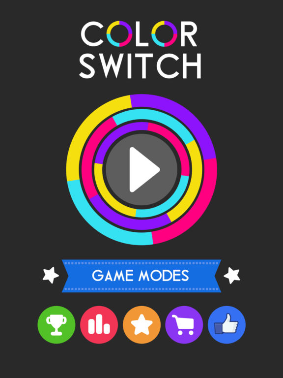 Screenshots of Color Switch for iPad