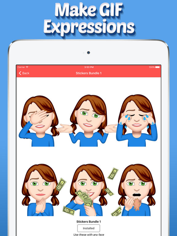 Emoji Me GIF Face Maker screenshot