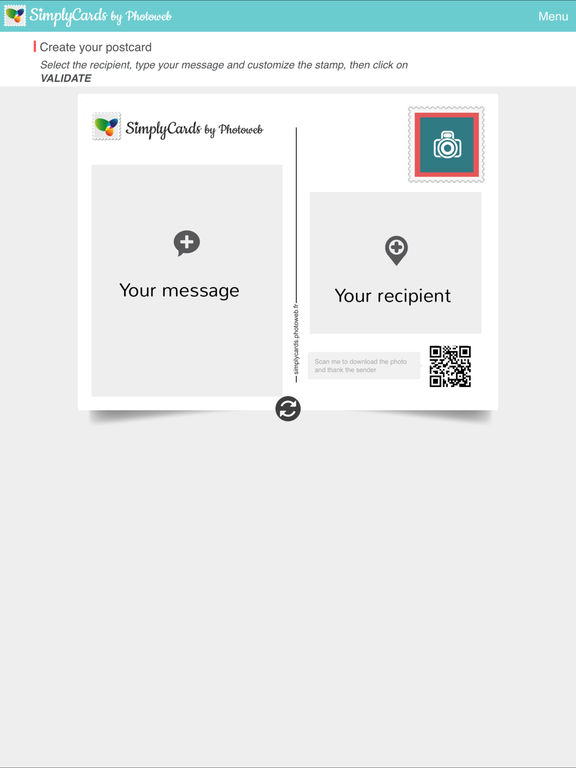 SimplyCards by Photoweb - Real Postcard screenshot