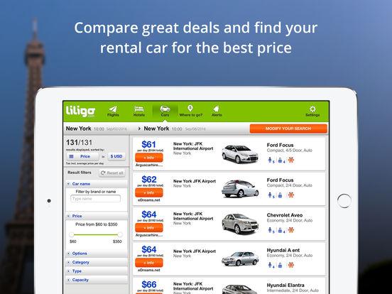 Comparateur de vols pas chers by liligo.com iPad Screenshot 5