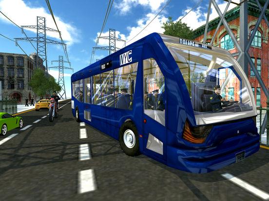 Police Bus City Transporter 3D-ipad-4
