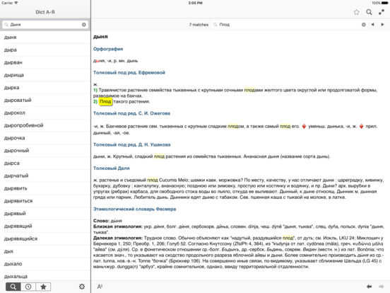 Dict А-Я для iPad iPad Screenshot 2