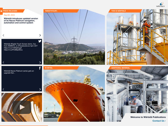 Wärtsilä iPublication iPad Screenshot 1