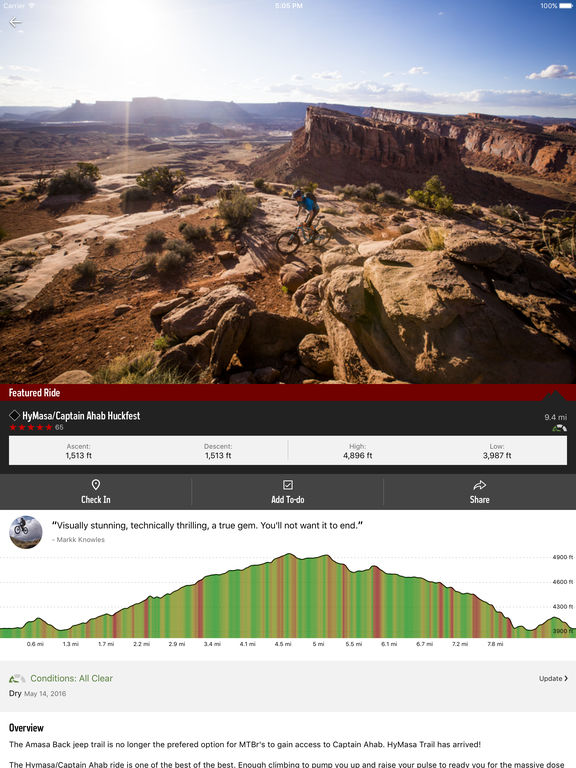 MTB Project screenshot