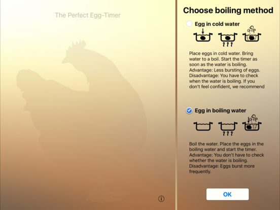The perfect Egg timer Screenshots