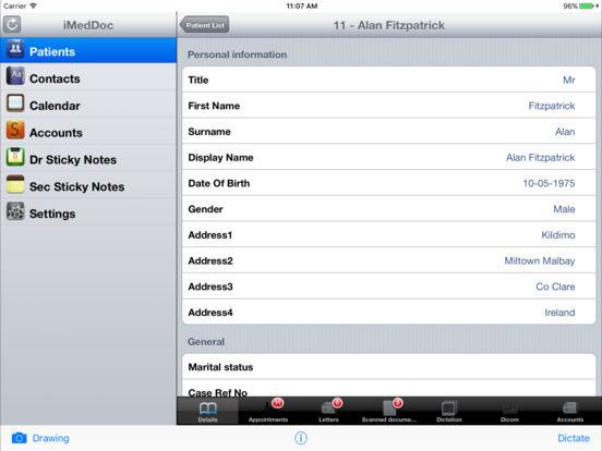 iMedDoc-EMR iPad Screenshot 3