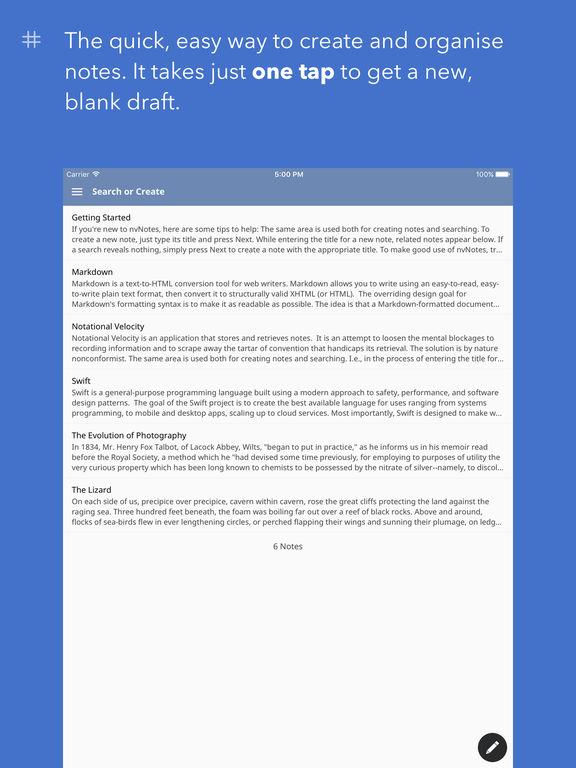nvNotes - Note Taking & Writing App Screenshots