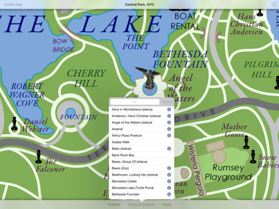 Discover Central Park HD iPad Screenshot 1