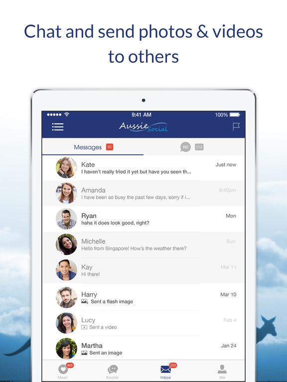 Aussie chat app