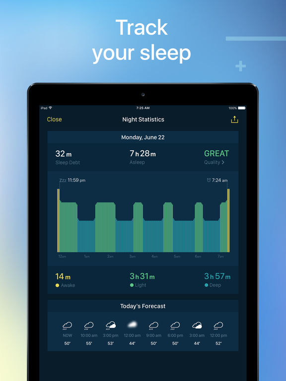 Good Mornings - Free Smart Sleep Cycle Tracker and Alarm Clock screenshot