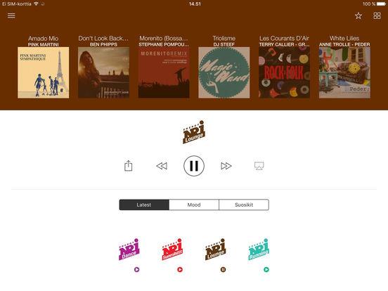 NRJ Finland iPad Screenshot 1