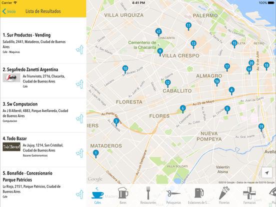 Páginas Amarillas Argentina iPad Screenshot 2