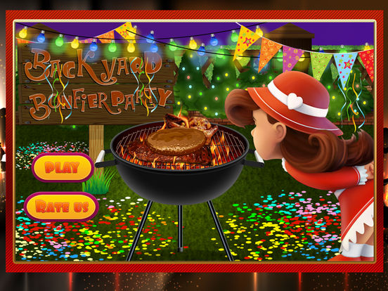 App shopper backyard bonfire party crazy bbq grill for Backyard party decoration crossword