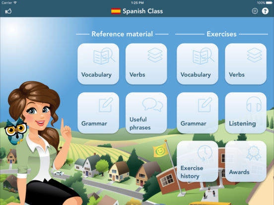 Spanish Class iPad Screenshot 1