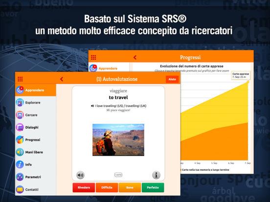 MosaLingua Inglese : Imparare e Memorizzare l'Inglese rapidamente (Italiano ► Inglese) iPad Screenshot 1