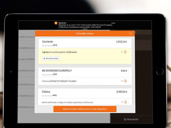 Bankinter iPad Screenshot 5