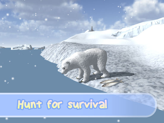 Wild White Polar Bear Simulator Full screenshot 8
