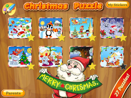 Happy Christmas Time with Santa Claus, Snowman, Elf, Reindeer Jigsaw Puzzles: Fun Educational Game for Kids and Toddlers screenshot 10