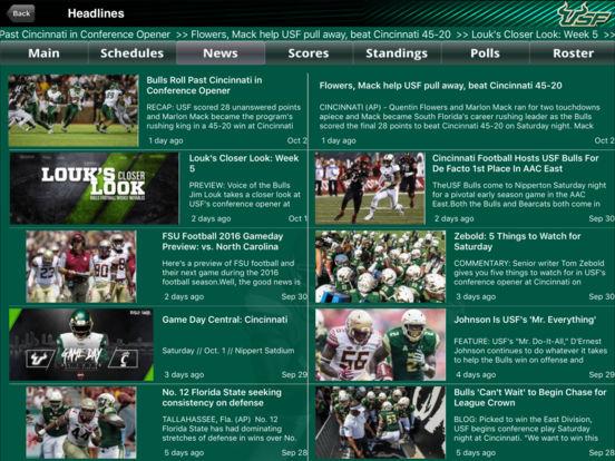 South Florida Bulls College SuperFans iPad Screenshot 1
