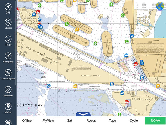 FlyToMap GPS HD - All in one (Park Marine Lake Travel maps) iPad Screenshot 2