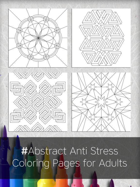 Coloring Pages For Adults App : App shopper abstract anti stress coloring pages for