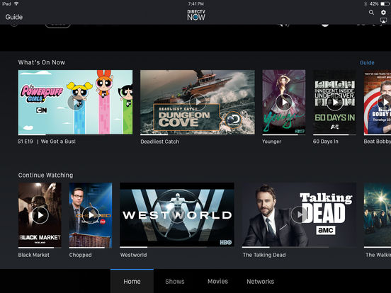 DIRECTV NOW Screenshots