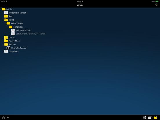 Meteor Notes Lite iPad Screenshot 1