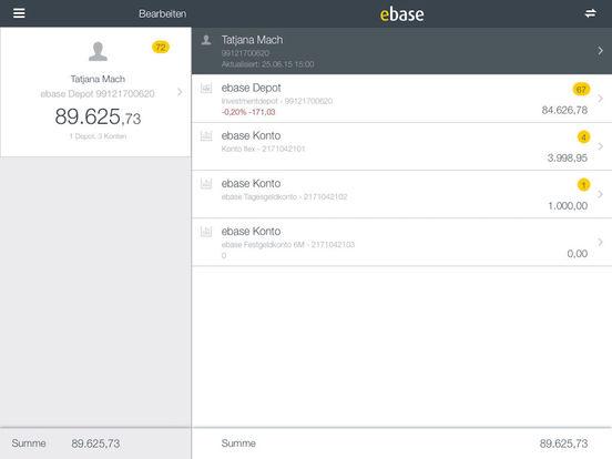 ebase Mobile iPad Screenshot 2