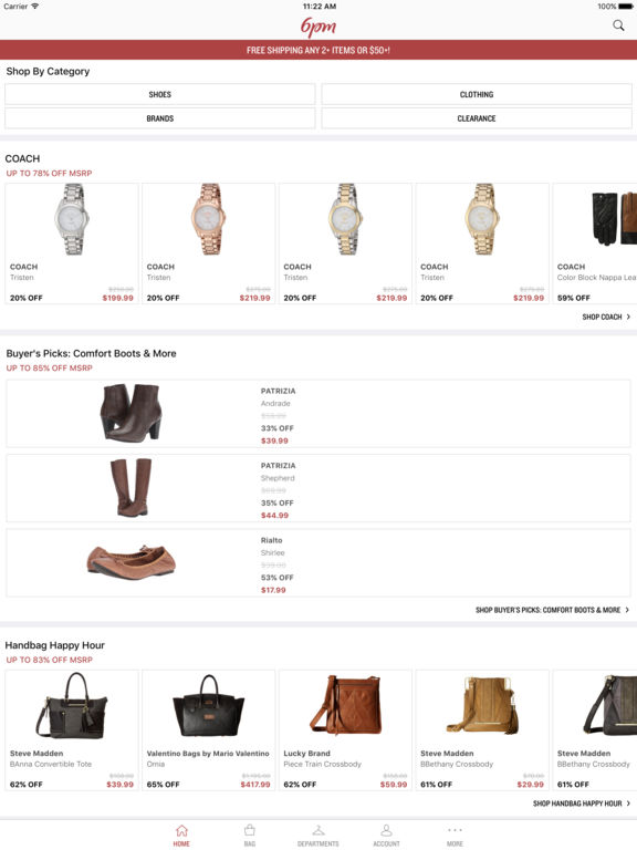 Screenshots of 6pm - Shoe and Clothing Deals for iPad