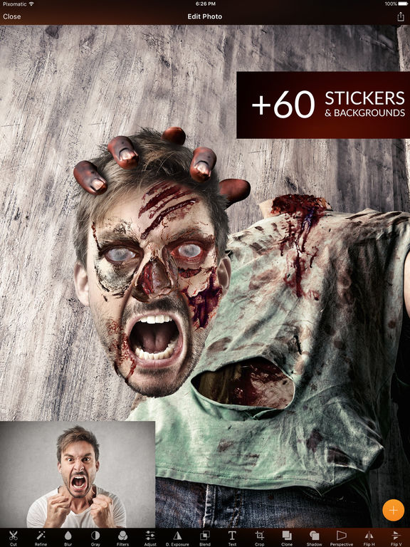 Create Scary Photos Of Yourself: Pixomatic For iOS Hits An All-Time Low Price