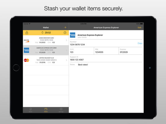 Stashword - Password Manager and Secure Wallet screenshot
