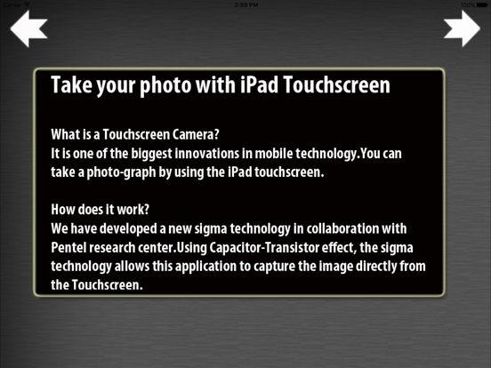 iTouchScreen Camera iPad Screenshot 1