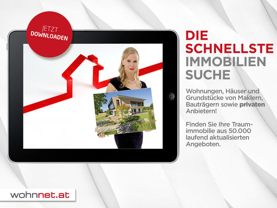 Immobiliensuche - Wohnnet.at iPad Screenshot 1