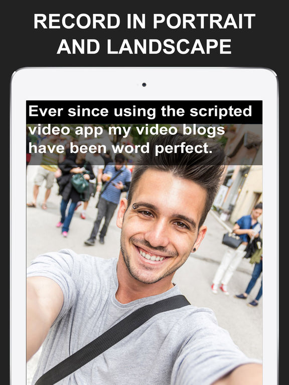 Teleprompter for Video - Scripted! Read and Record screenshot
