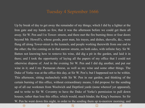 Pepys Diary iPad Screenshot 3