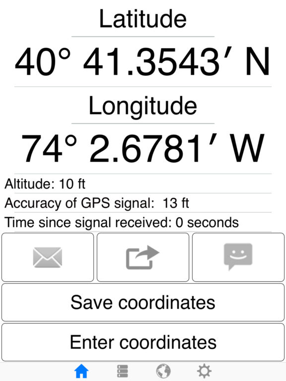 how to get gps coordinates on iphone